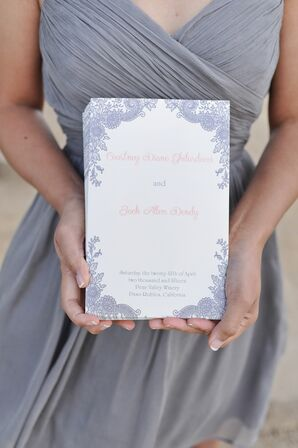 Pale Purple Floral Ceremony Programs