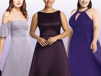mix and match purple bridesmaid dresses