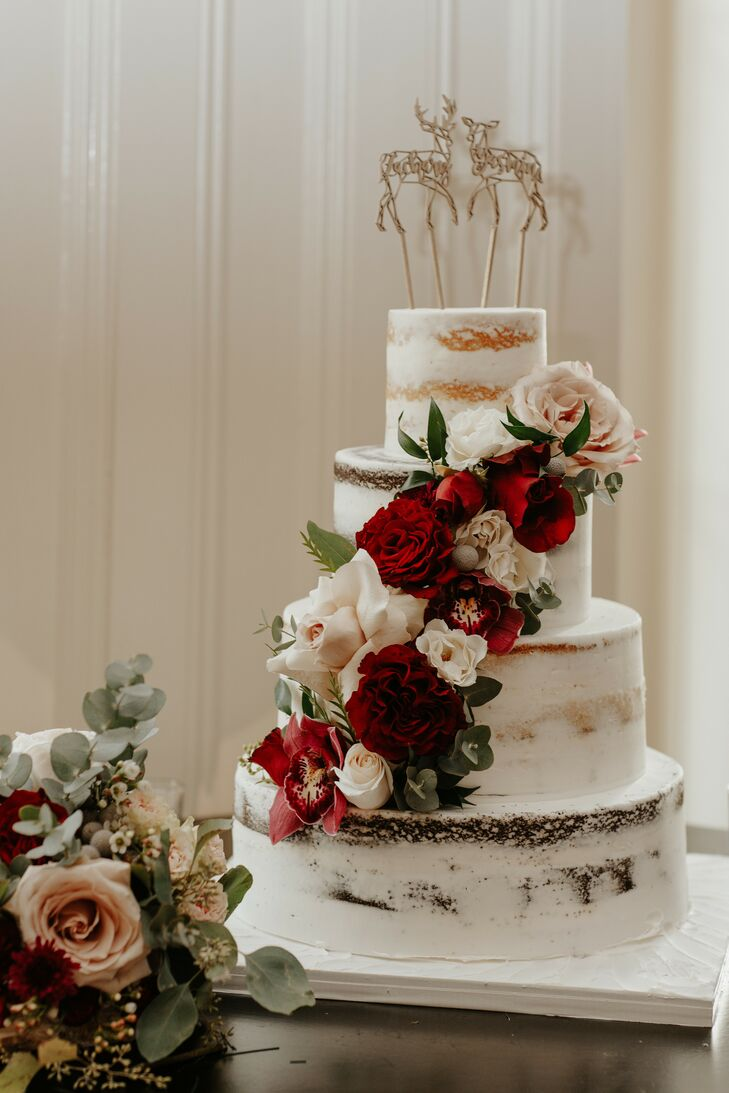 Naked Cake for Wedding at The Ryland Inn in Whitehouse Station, New Jersey