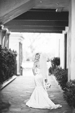 Lazaro Ivory Mermaid Wedding Dress