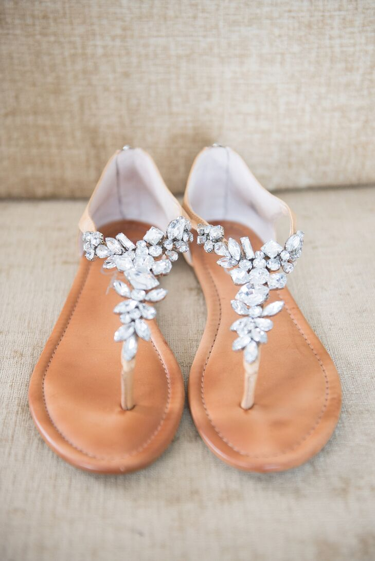 4f93675af Pam s shoes served as her something old. She walked down the aisle in a pair