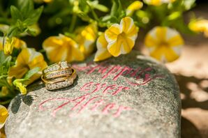 Rings on Customized Wedding Rock