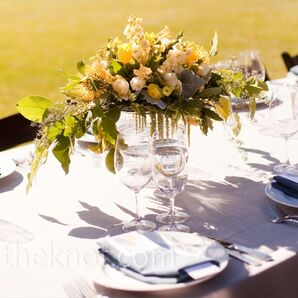 Yellow Floral Centerpieces