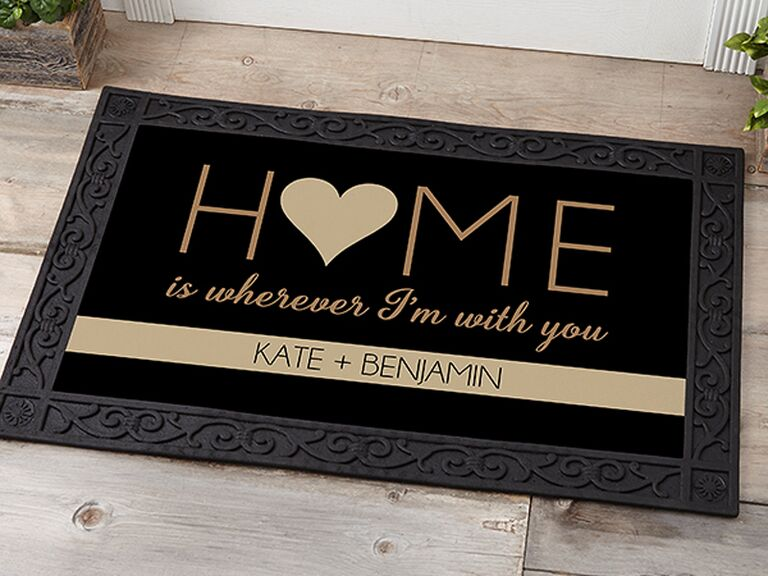 Personalized doormat 10 year anniversary gift