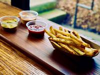 Vegan wedding menu french fries