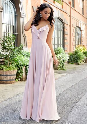 Hayley Paige Occasions 5803 V-Neck Bridesmaid Dress