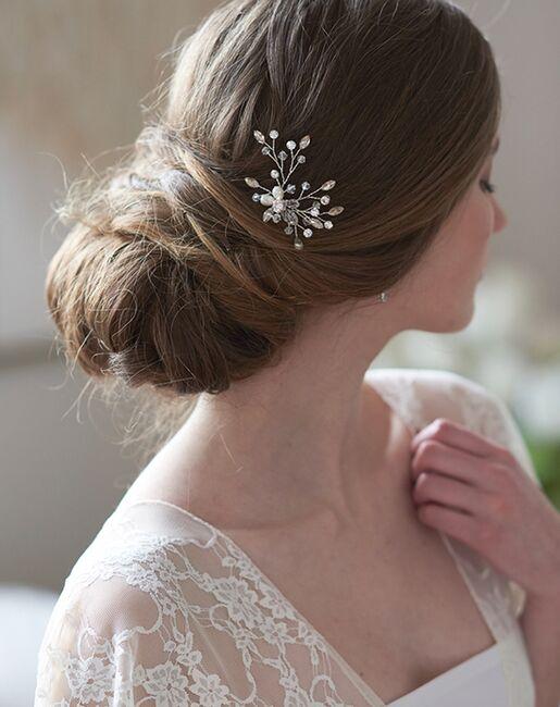 Dareth Colburn Audrey Crystal Hair Pin (TP-2826) Silver Pins, Combs + Clip