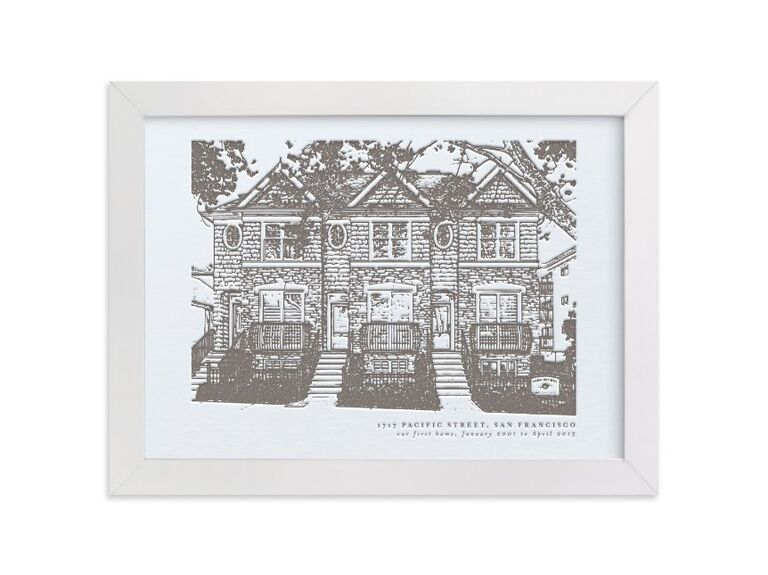 Custom home print gift for father-in-law