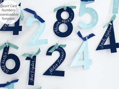 Escort Card Numbers Template, Antonis Achilleos/TheKnot.com