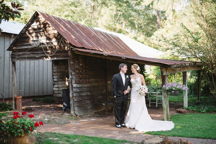 Stacy and Chris's Formal-Meets-Rustic Wedding