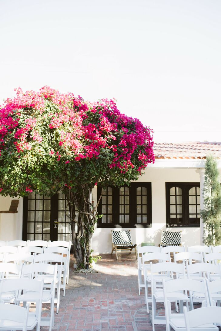 Wedding Ceremony at Villa Royale in Palm Springs, California