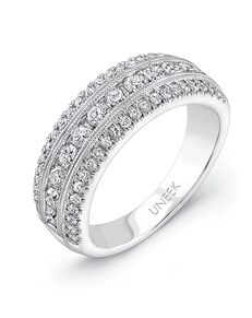 Uneek Fine Jewelry UWB023 White Gold Wedding Ring