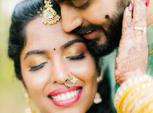 To celebrate their marriage, Pooja and Ravi hosted three days of festivities filled with a vibrant color palette to celebrate the joy that was central