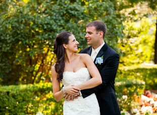 Kara got married in Cortland, NY in an elegant ceremony with accents of blue mixed throughout.