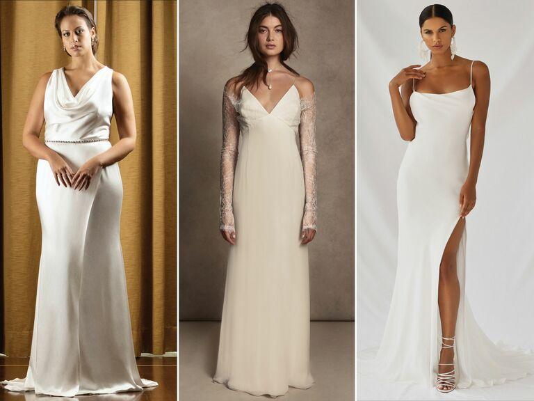 slip dresses wedding dresses