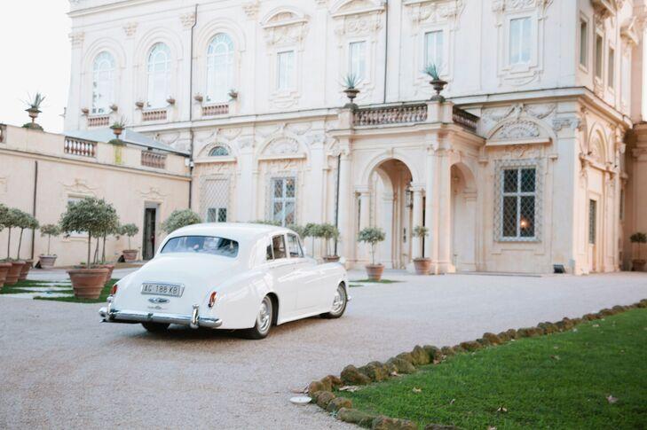 Vintage Car at Villa Aurelia in Rome