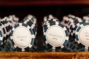 Poker Chip Escort Cards