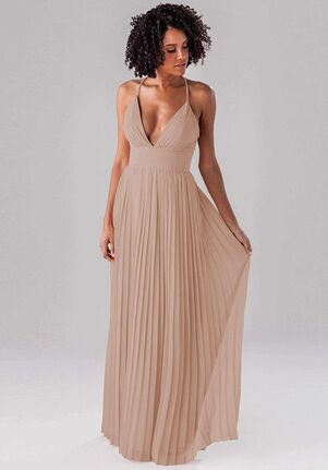 Kennedy Blue Summer V-Neck Bridesmaid Dress