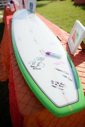 Surfboard Guest Book