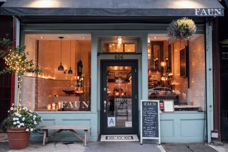 Exterior of Faun in Brooklyn, New York