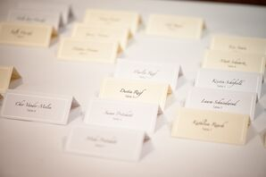 Classic Black-and-White Escort Cards