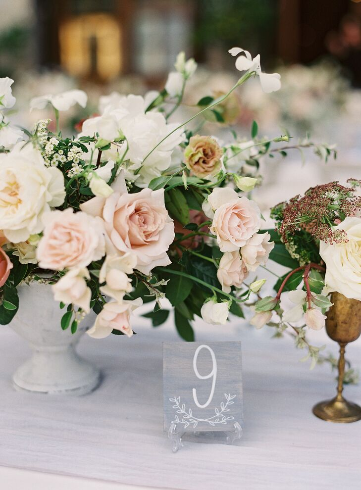 Low Rose Centerpiece at Holman Ranch in Carmel Valley, California