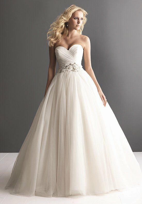 Allure romance 2607 wedding dress the knot for Wedding registry the knot
