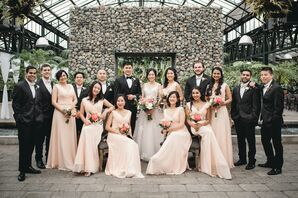 Wedding Party Photos at Planterra Conservatory in Detroit, Michigan