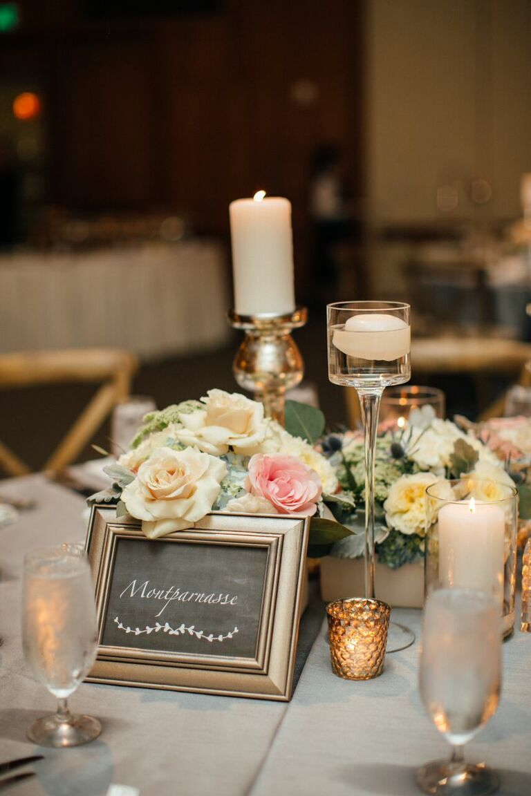 Kelly Kruger and Darin Brooks wedding French-inspired table settings
