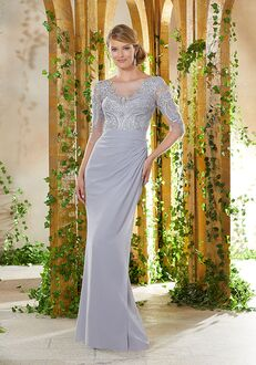 MGNY 71914 Gray Mother Of The Bride Dress