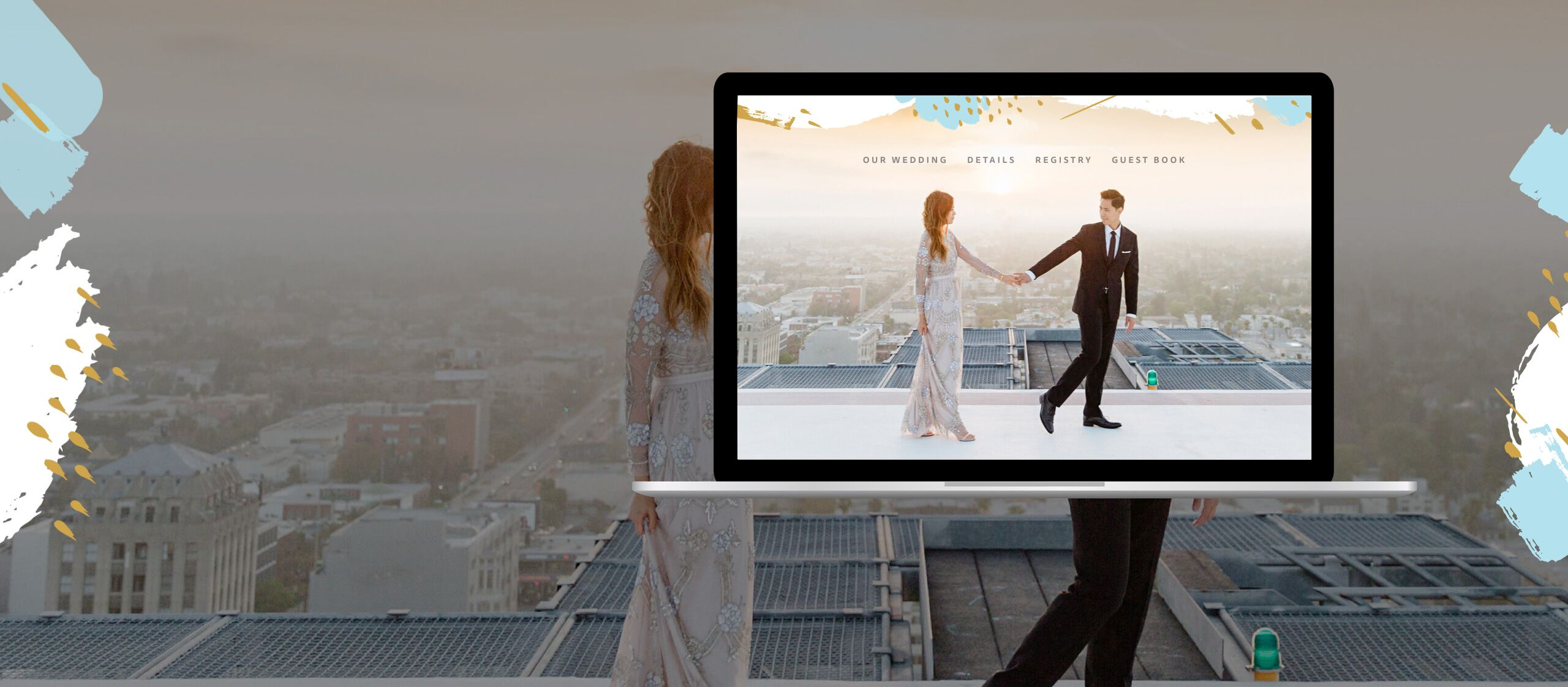 best wedding website by the knot